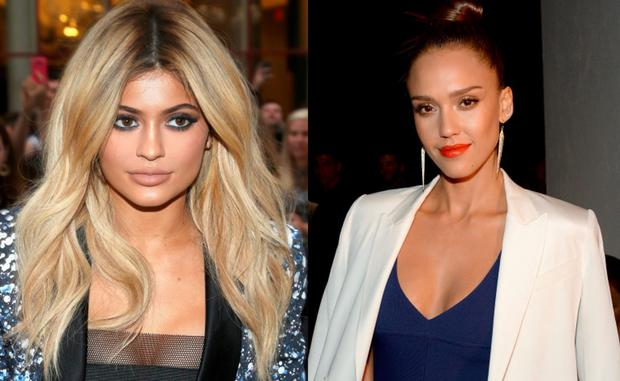 Kylie Jenner (left) and Jessica Alba (right)