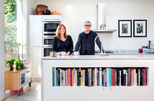 Jenni Hedderman and Mark O'Donoghue in the kitchen of their Victorian end of terrace on Dublin's South Circular Road