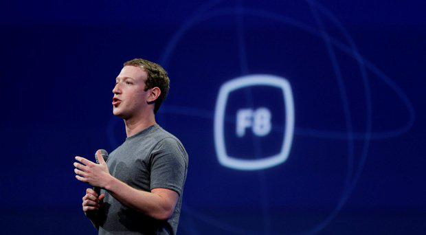 Mark Zuckerberg gestures while delivering the keynote address at the Facebook F8 Developer Conference in San Francisco. Zuckerberg said Tuesday, Sept. 15, Facebook may finally be getting a button that lets you quickly express something beyond a