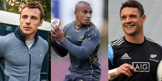 (L to R) Tommy Bowe, Will Genia and Dan Carter