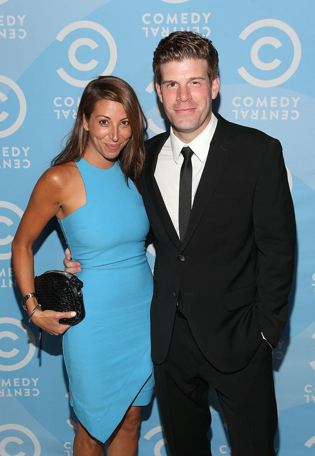 Actor Stephen Rannazzisi (R) and Tracy Rannazzisi attend the Comedy Central Creative Arts Emmy Party at Boulevard 3 on August 16, 2014 in Hollywood, California.