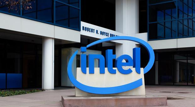 Intel Sign at its corporate headquarters.
