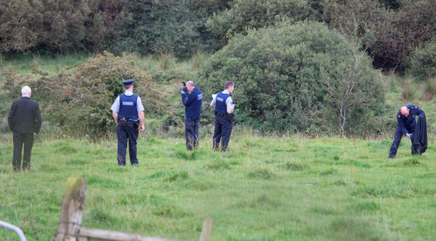 The scene were a local farmer was mauled by a bull a his farm in Burt, Co. Donegal. (North West Newspix)