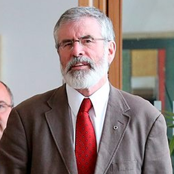 Sinn Fein President Gerry Adams has not ruled out his party entering a coalition with other parties