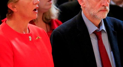 Leader of the Labour Party Jeremy Corbyn (right) stands as the national anthem is sung during a service at St Paul's Cathedral in London to mark the 75th anniversary of the Battle of Britain. PRESS ASSOCIATION Photo. Picture date: Tuesday September 15, 2015. See PA story ROYAL Battle. Photo credit should read: Jonathan Brady/PA Wire