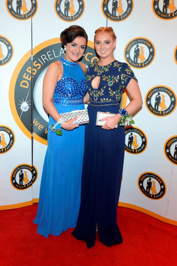 Shayla Fortune (17) Carries Closet and Lauren Doonan (17) Virgos at the New Cross College debs at the Dunboyne castle hotel
