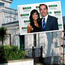 Ryan Tubridy's South Dublin and (inset) he's pictured with ex-girlfriend Aoibhinn Ni Shuilleabhain