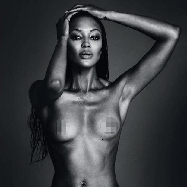 This topless image of Naomi Campbell was removed from Instagram