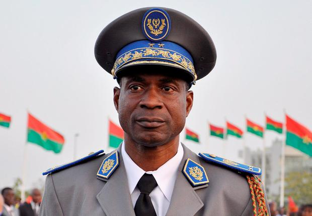 General Gilbert Diendere, who has assumed power. Mr Diendere was a one-time powerful aide to deposed Burkina Faso president Blaise Compaore Credit: Ahmed Ouob (Getty Images)