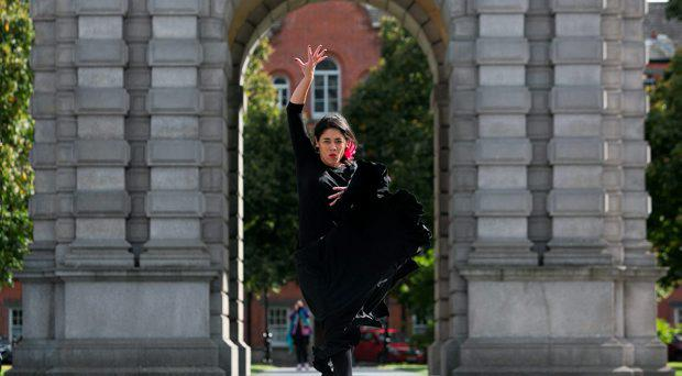 Culture Night Ambassador & Dancer from Dublin School of Flamenco Jordana Souza at Trinity College, Dublin to make final preparations for Culture Night Friday 18th September, Ireland's largest cultural extravaganza