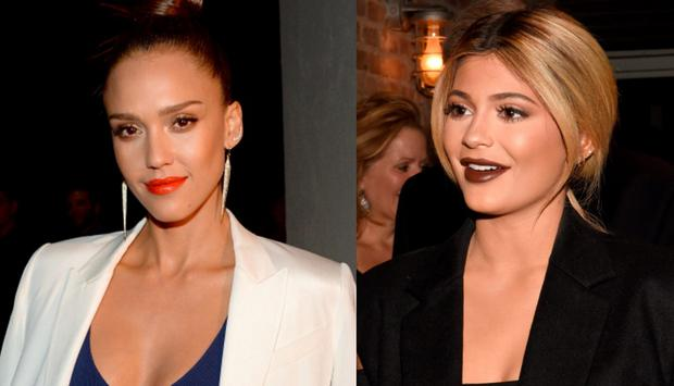 Jessica Alba (left) and Kylie Jenner (right)