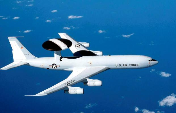 The E-3 Sentry is an all-weather surveillance aircraft used by both the US and NATO Credit: US Air Force