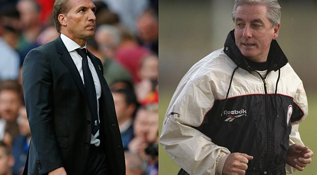 Dangerous precedent: Brendan Rodgers's current struggles at Liverpool bring to mind those of former manager Roy Evans
