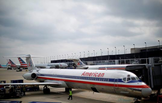 An American Airlines airplane sits at a gate at the O'Hare Airport in Chicago, Illinois REUTERS/Jim Young/Files