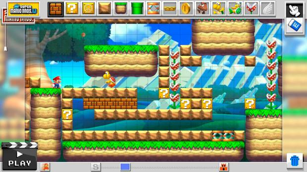Super Mario Maker: styles range from the 16-bit era to the more modern