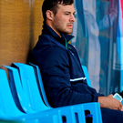 Robbie Henshaw sits out the Irish training session in Cardiff yesterday. The Connacht star is out of tomorrow's game against Canada but Joe Schmidt is hoping he can return for the clash with Romania