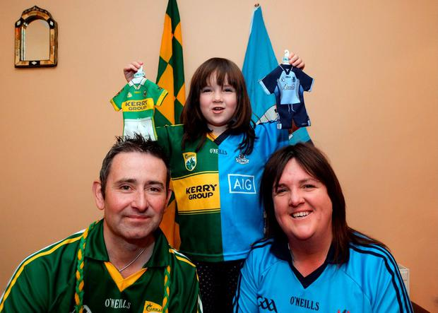 Francis Kelliher, originally from Castlegregory, Kerry, with wife June, from Dublin, and their daughter Shonagh, 5, at home in Rathfarnham, Dublin. Picture: Caroline Quinn