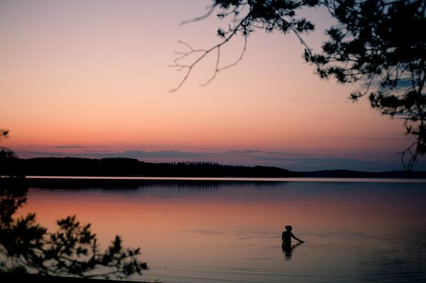 Evening on a Finnish lake. Photo: Elina Sirparanta