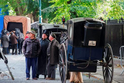 Shooting of Penny Dreadful on Bully Alley, Dublin 8.