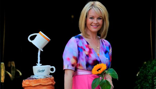 Claire Byrne launching Ireland's Biggest Coffee Morning in association with Bewley's, which aims to raise vital funds for hospice services in Ireland.