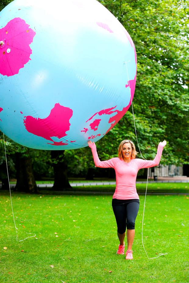 TV presenter and fitness enthusiast Kathryn Thomas today launched Centra's 'Walk the World'