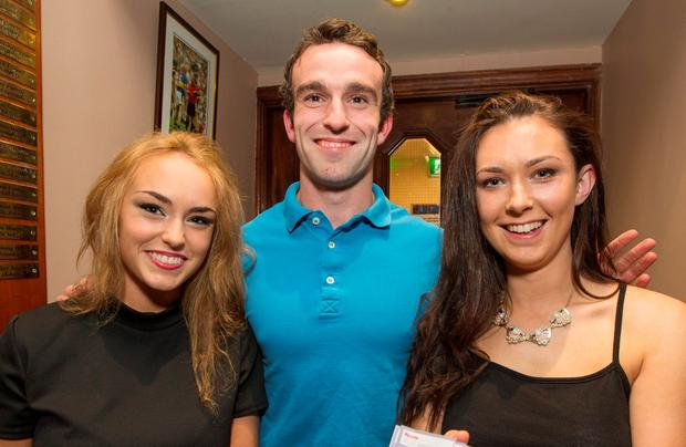 Pictured at The St. Judes Lottery Draw for All Ireland Tickets at The GAA Club last night were; Marion and Oisin O'Donnell and Laura Kilcoyne.