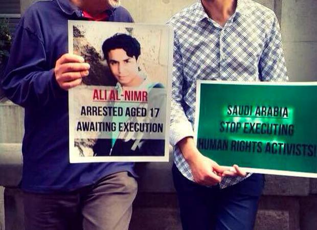 Activists calling for the release of Ali Mohammed al-Nimr Credit: Free Sheikh Nimr Baqir Al-Nimr