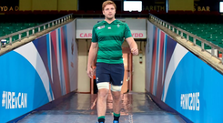 Ireland's Iain Henderson arrives for the captain's run ahead of tomorrow's opening World Cup pool game against Canada
