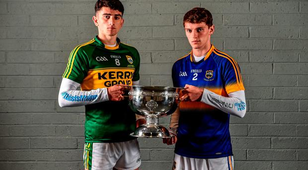 Rival minor captains Mark O'Connor of Kerry and Tipperary's Danny Owens will be hoping to get their hands on the Tom Markham Cup at Croke Park tomorrow