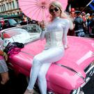 A participant takes part in Sydney's colourful gay Mardi Gras. 'It is only right that more people feel comfortable in defining their sexuality'
