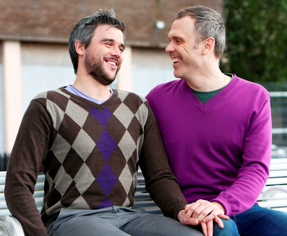 Richard Lynch (right) and Hugo Dahn who plan to get married in January