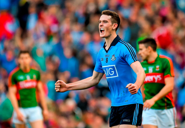 Brian Fenton celebrating the semi-final replay over Mayo