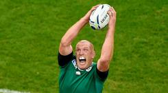 Ireland's Paul O'Connell in action during a lineout Reuters / Rebecca Naden
