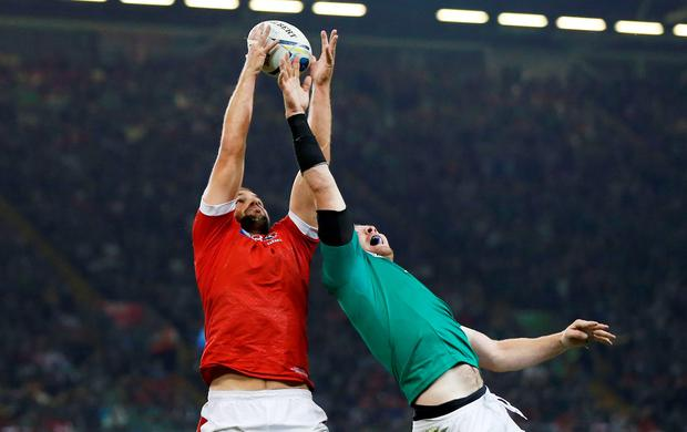 Rugby Union - Ireland v Canada - IRB Rugby World Cup 2015 Pool D - Millennium Stadium, Cardiff, Wales - 19/9/15 Canada's Brett Beukeboom and Ireland's Peter O'Mahony in action during a lineout Action Images via Reuters / Andrew Boyers Livepic