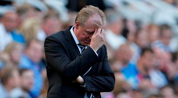 Newcastle manager Steve McClaren looks dejected Action Images via Reuters / Lee Smith Livepic