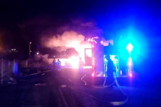 Firefighters battled fire for over two hours (Photo: Twitter/DublinFireBrigade)