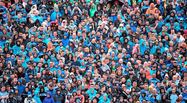 Hill 16 packed with supporters. Photo: David Maher / Sportsfile