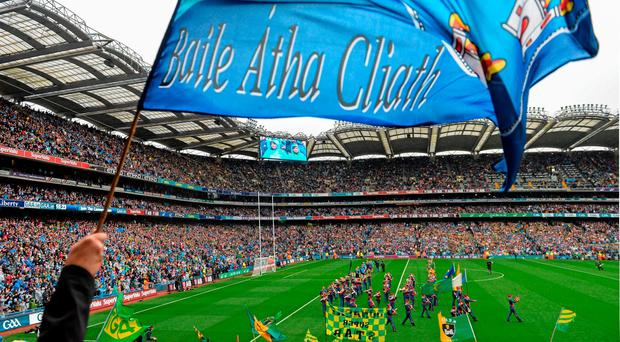 Dublin fans before their semi-final win over Kerry