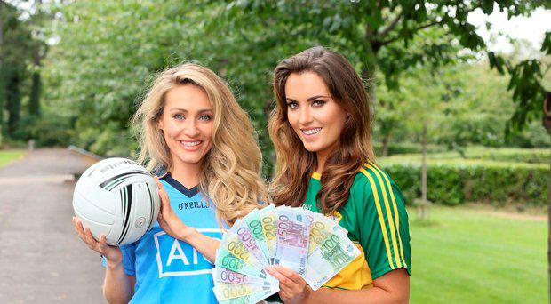 GAA-lamorous Holly Carpenter (right) and Maeve Madden Battle It Out For Saturday's €7.5 Million Lotto Jackpot