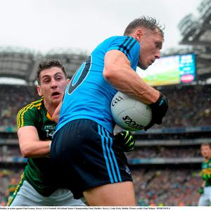 Paul Flynn, Dublin, in action against Paul Geaney, Kerry. GAA Football All-Ireland Senior Championship Final, Dublin v Kerry, Croke Park, Dublin
