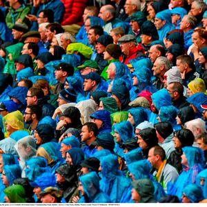 Supporters watch during the game. GAA Football All-Ireland Senior Championship Final, Dublin v Kerry, Croke Park, Dublin