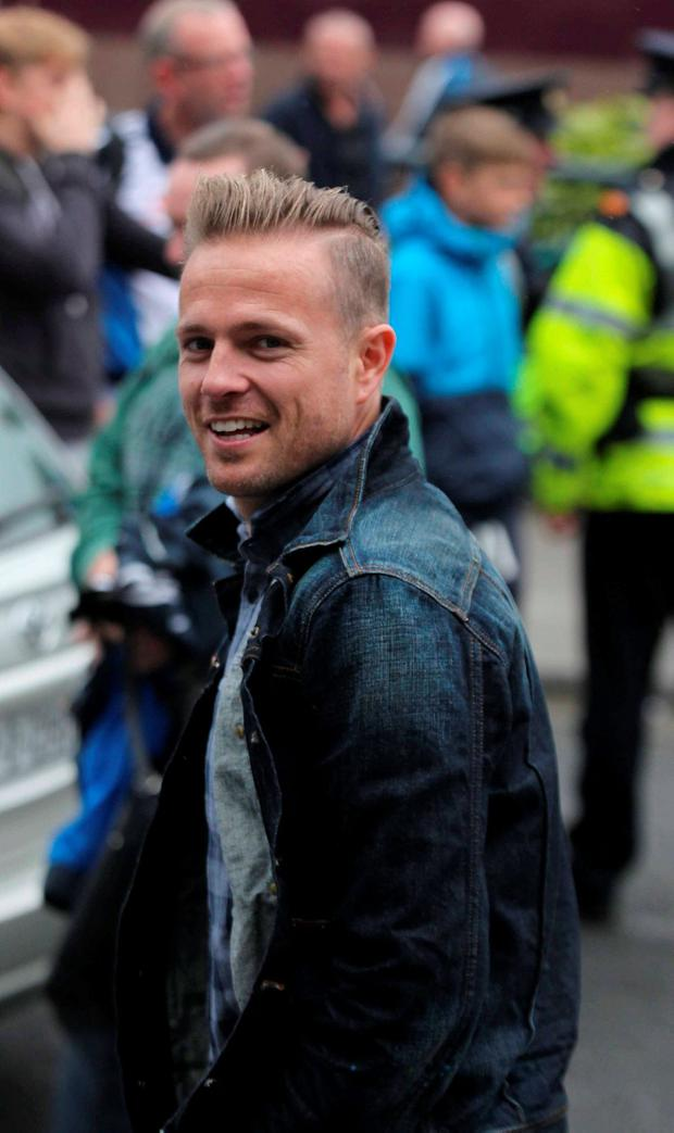 Nicky Byrne pictured at All-Ireland final between Dublin and Kerry at Croke Park Dublin