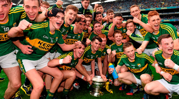 Kerry celebrate their All-Ireland minor title