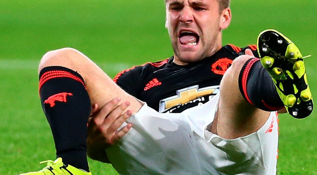 Luke Shaw suffered a broken leg during Manchester United's game against PSV in September last year