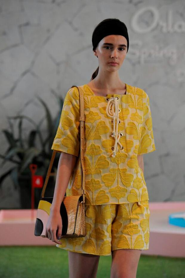 Orla's SS16 collection is about clashing colours and soothing pastels in short and long lengths in a collection that pays homage to the 1970s
