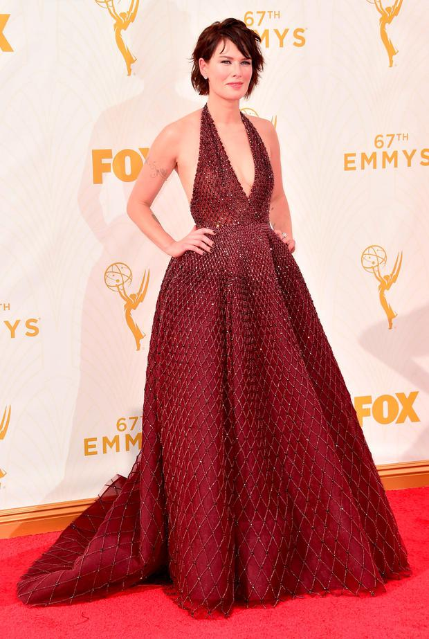 Actress Lena Headey attends the 67th Emmy Awards at Microsoft Theater on September 20, 2015 in Los Angeles, California. 25720_001 (Photo by Alberto E. Rodriguez/Getty Images for TNT LA)