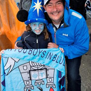 Clodagh Fox (9) and her dad Ivan, Portmarnock