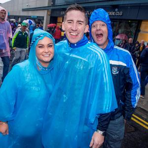 Croke Park, fans. Jean O'Connor, Conor Morris and Colm Errity.