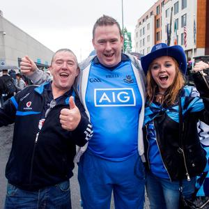 Croke Park, fans. Shay Doyle, Sean Nevins and Grace Hillard, Tallaght.