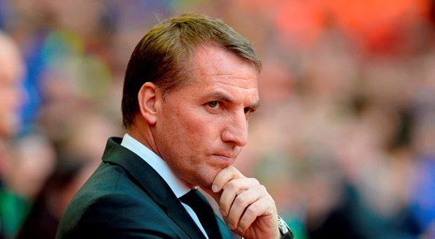 Liverpool manager Brendan Rodgers during the Barclays Premier League match at Anfield
